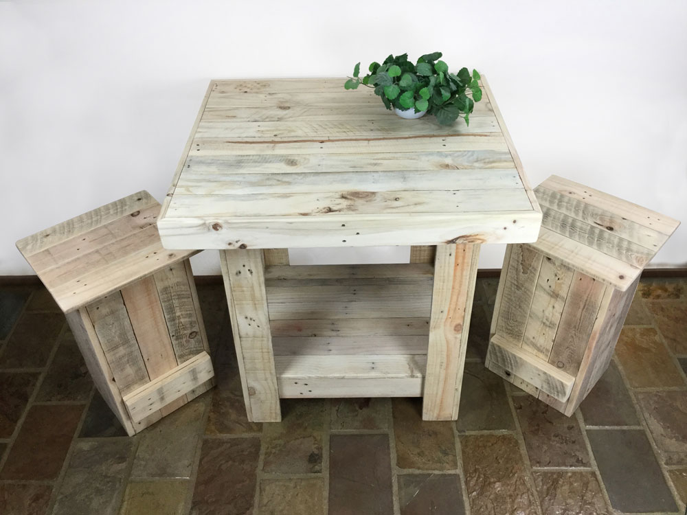 Recycled Timber Furniture - Table and Stools